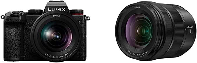 Panasonic LUMIX S5 Full Frame Mirrorless Camera (DC-S5KK) and LUMIX S 20-60mm F3.5-5.6 L Mount Interchangeable Lens (S-R2060)