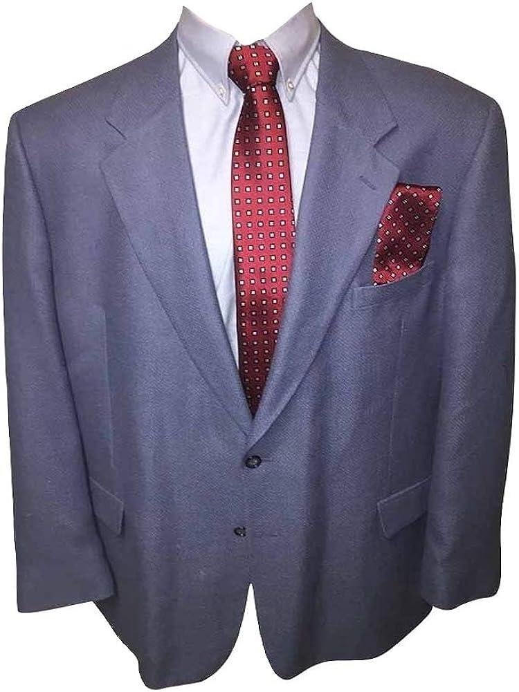 Big and Tall 52 Extra Long Silk Wool Blend Blue Sport Jacket 52XL