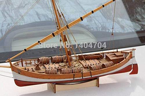 SIourso Modellino Nave Kit Modellino Nave Modello Sacle 1/48 Kit Modello Antico di Barca A Vela Classica: Mediterraneo Leudo 1800-1900 Modello in Legno per Nave