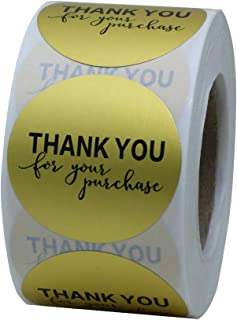 Hybsk Gold Foil Thank You for Your Purchase Stickers 1.5