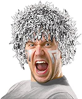Amscan Fun Party Wig Costume, Silver