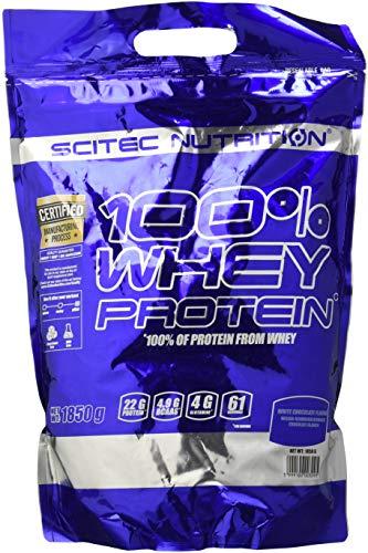 Scitec Nutrition 100% Whey Protein, Proteina, Cioccolato bianco, 1850 g