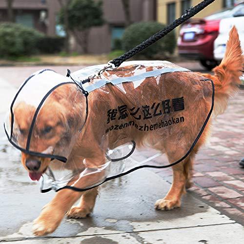 Satsuma hond regenjas grote honden middelgrote honden grote waterdichte hond gouden Labrador paraplu zwarte mantel poncho 7XL nice