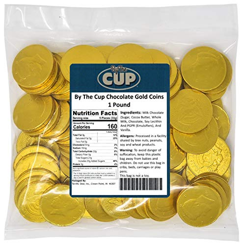By The Cup Chocolate Gold Coins 1 Pound