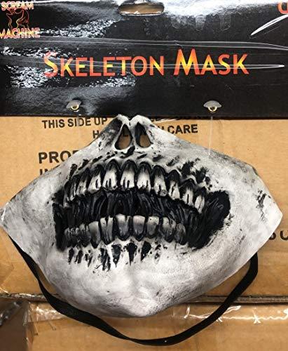 WickedFun® Skelett-Maske für Erwachsene, Teufels-Horror-Zombie-Skelett-Geister-Tag der Toten, Kostüm-Zubehör
