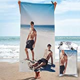 CNSHEO Ethan Dolan Adults Printing Microfiber Quick Dry Towel,Suitable for Camping,Gym,Beach,Home 27.5'x55'