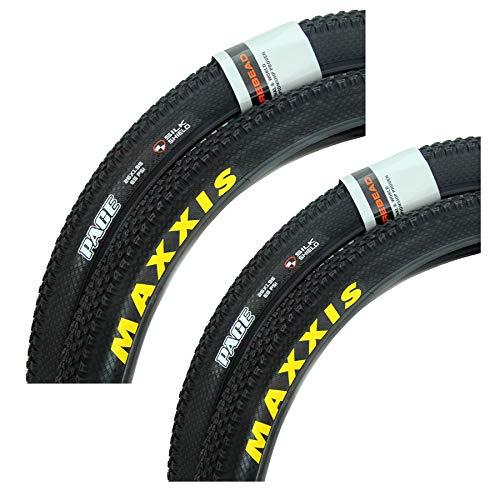 DUXIUYING Neumáticos de Bicicleta de montaña de 26/27,5 * 1,95 Pulgadas, neumático Resistente a los pinchazos, Plegado de neumático de Bicicleta con Cubierta de Alambre 60TPI, 2 Piezas,26 * 1.95