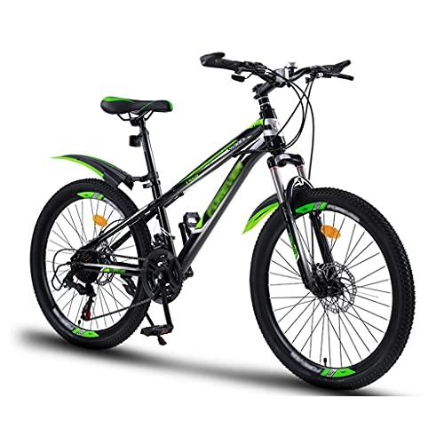 OFFA Bicicletas De Montaña para Niños, Bicicletas 20'22' 21 Velocidades / 24'Ruedas De 24 Velocidades Bicicleta De Montaña Amortiguadora para 6-15 Años, Regalos De Cumpleaños para Niño Y Niña