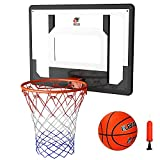 Cyfie Over The Door Basketball Hoop Sets, Indoor Basketball Games for Kids Adults, Basketball Playset with Balls for Home Office (32''x 23')