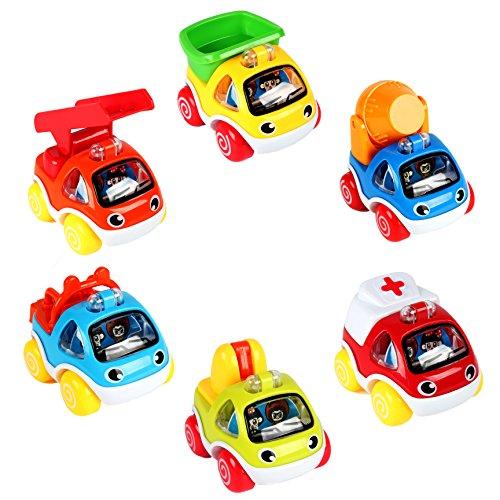 LUKAT Auto Spielzeug ab 1 2 Jahr Spielzeugauto ab 1 2 Jahren Pull Back Autos Spielzeug Autos für Kleinkinder