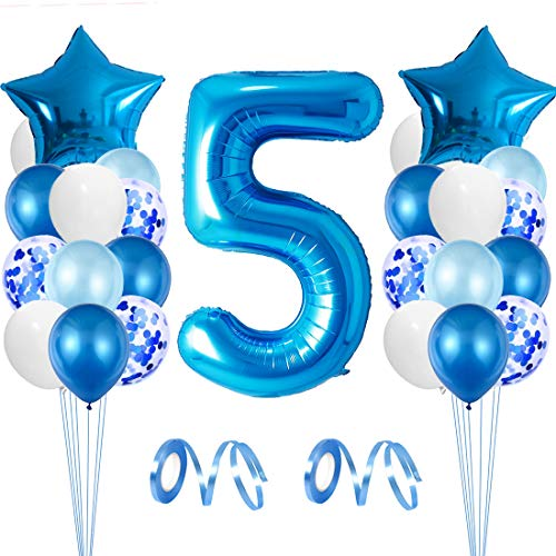 Globo de Cumpleaños 5 año, Globo 5 Año, 5 Cumpleaños Niño, Globo Numero 5 Gigantes, Globo Cumpleaños 5 Año, Number Balloons, Set Globos Decoracion