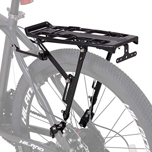 Hiland Bike Rear Cargo Rack Aluminum Luggage Pannier Carrier Adjustable for 20-29 inch Mountain Road Hybrid Commuter City Disc-Brake Electric Bikes