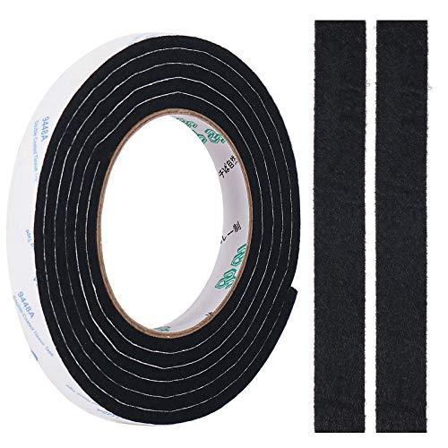 Filzband, 5mm Dickes DIY Filzstreifen Selbstklebend Rolle in Jede Form Geschnitten, um Ihren Hartholz und Laminatboden zu Schützen, 0,5