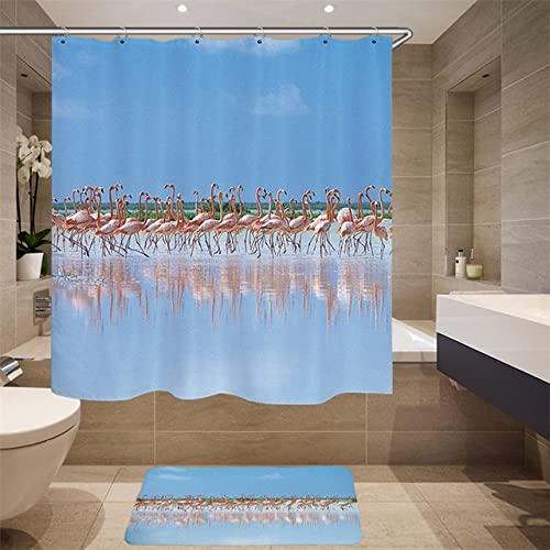 Hochwertiger Möbelbedarf Digitaldruck 3D Simulation Tiermuster Duschvorhang Schwan Stoff Duschvorhang Q5 180x180cm