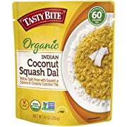 Tasty Bite Organic Squash Entree 10 Ounce, Coconut Dal (Pack of 6)