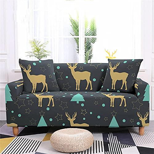 Funda Sofas 2 y 3 Plazas Triángulo Gris Fundas para Sofa con Diseño Universal,Cubre Sofa Ajustables,Fundas Sofa Elasticas,Funda de Sofa Chaise Longue,Protector Cubierta para Sofá