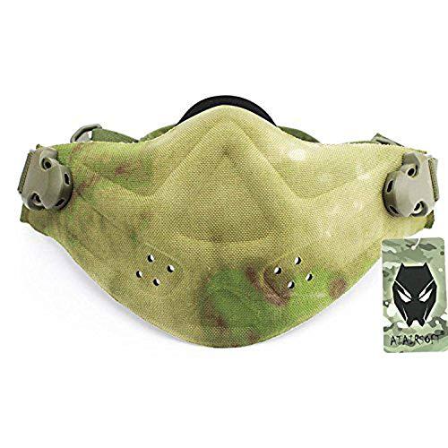 Worldshopping4u Military Tactical Paintball Softair Jagdsport Half Face Maske Neopren Light Gewicht Hartschaum Maske ATFG