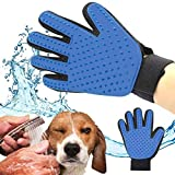 TruVeli Pet Grooming Massage Hair Removal and Bath Brush Gloves for Cat and Dog (Multicoloured)