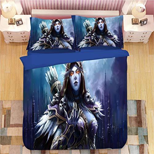 XKNSYMRL Funda Nordica 240 X 220, Mundo De Warcraft Impresión Digital 3D Edredones Cama 150, Premium Poliéster Microfibra Muy Suave Conjuntos De Ropa De Cama, para Muchachos Chicas (220X220Cm)