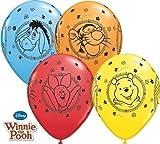 Winnie the Pooh Characters 11' Qualatex Latex Balloons x 5