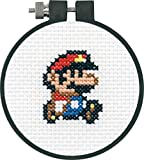 Dimensions 72-75184 Arts and Crafts Super Mario Bros Counted Cross Stitch Kit for Beginners, 11 Count White Aida, 3''D