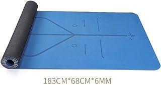 Yoga Mat Beginners Men and Women Thickening Widened Long Non-Slip Sports Mat Yoga Fitness Mat QYSZYG (Color : Blue)