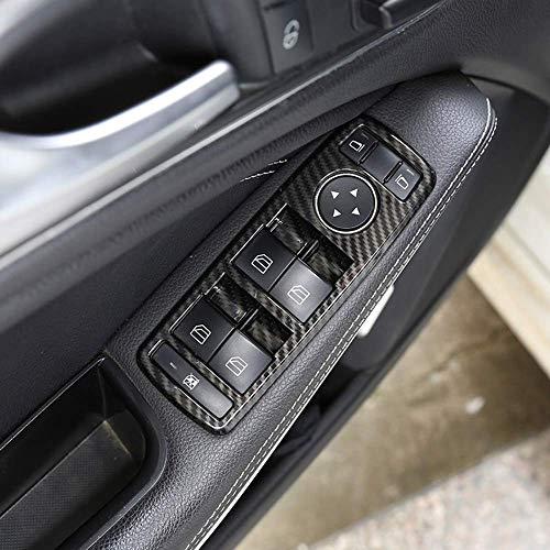 Auto Innenkohlenstofffaser ABS Fensterheberknopf Rahmen Trim für A B C E GLE GLA CLA GLK Klasse W176 W204 W212 W166 W218