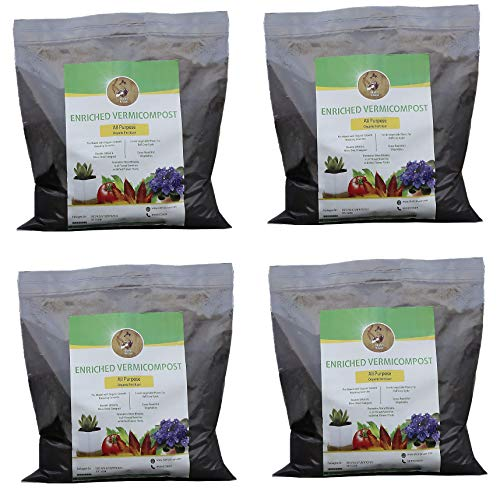 Shehri Kisaan® Enriched Vermicompost 20kg | Effective & Complete Plant Food with Organic Growth Boosters | Natural Manure & Plant Feed for Indoor Outdoor Gardening | Organic NPK & Soil Conditioner |