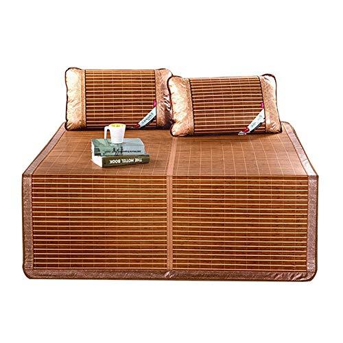 WENZHE Bambus Matratzen Sommer-Schlafmatten Strohmatte Teppiche Falten Verdicken Zuhause Schlafzimmer Multifunktion, 4 Größen (größe : 0.9×1.95m)
