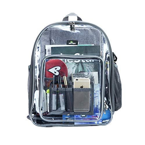 Waterproof and Lightweight Transparent Backpack for Work, Concerts,Travel and Sporting Event -$6.49(76% Off)