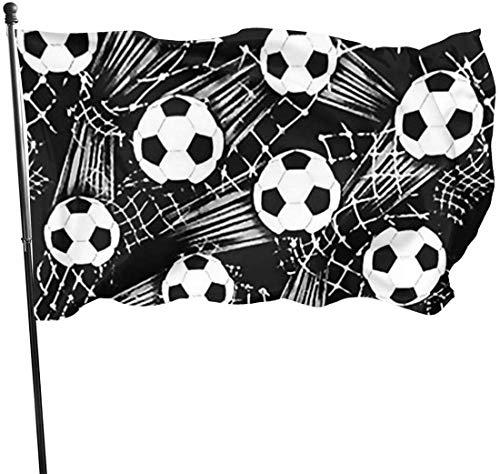 N/A Bandera de la Guardia Americana Bandera de Hello Flags Balón de Fútbol Negro La Primavera de los Estados Unidos Patio Delantero para Casa de Estación, Patio Fiesta Decoración Pie