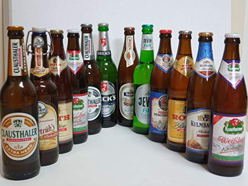 Bier Box alkoholfreie Biere 12x0,5l incl Pfand I Alkoholfrei Bier I Bierprobe I Geschenk Idee I Vatertagsgeschenk