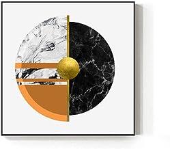 Lámina dorada moderna Pintura Impresión azul abstracta Cartel naranja Decoraciones artísticas de la pared de oro para la habitación 30x30cm