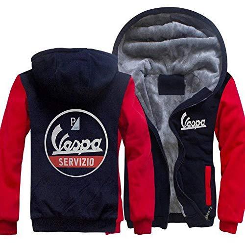 Suéter con Capucha con Capucha para Hombre Suéter con Capucha para Vespa Imprimir Casual Zip Jersey Pullover Stitching De Manga Larga Sudadera Capa - Regalo A-XX-Large