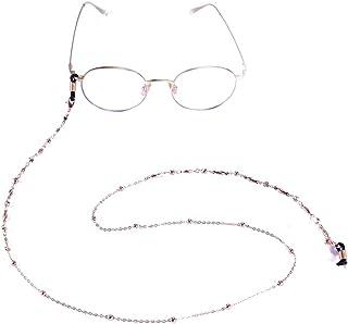 VASSAGO النساء الخرز رابط سلسلة النظارات مع مشبك قابل للتعديل نظارات حبل حامل نظارات شمسية حزام الحبل الرقبة اكسسوارات