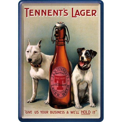 Nostalgic-Art Merchandising 16268 Tennents Lager Bière ou Spirits Blechpostkarte, 10 x 14 cm