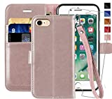 iPhone SE 2020 Hülle,iPhone 8/7 Handyhülle,4.7 Zoll,MONASAY,[Panzerglas Schutzfolie][Kartenfach][Standfunktion][Magnet],Stoßfeste Schutzhülle,Leder Flip Hülle für Apple iPhone SE2/8/7
