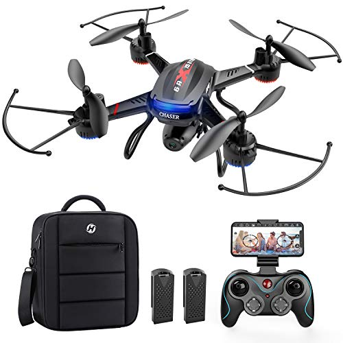 4. Holy Stone F181W Drone with HD Camera, 2 Batteries and carry bag