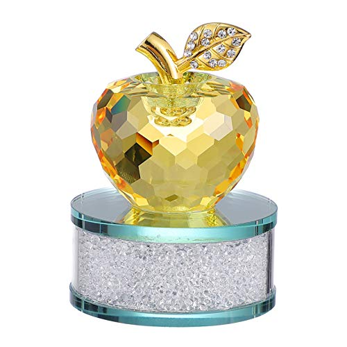 CLISPEED Prato de Frutas de Vidro Prato de Frutas de Cristal Estatueta Ornamento Boa Sorte Estátua Figura Escultura Do Interior Do Carro para Centros De Mesa Festa Decorações