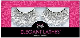 Elegant Lashes F107 Premium Silver Feather False Eyelashes Halloween Dance Rave Costume