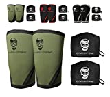 Elbow Sleeves (1 Pair) W/ Wrist Wraps - Support & Compression for Powerlifting, Weightlifting, Bench & Tendonitis - 5mm Neoprene Sleeve - For Men & Women - 1 Year Warranty (X-Large)