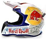 STRTG Casco De Motocross Regalo Deportivo para Hombres Certificado Dot/ECE Red Bull Pattern Casco Deportivo Todoterreno Integral B,S