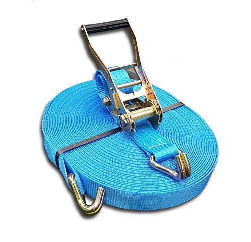 Trupa spanband 5to 20m 50 mm / 2-delig vingergreepratel EN 12195-2 2500/5000 daN blauw