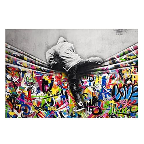 Arte De Lienzo 50x70cm Sin marco Street Graffiti Art imprime cuadro de arte de pared para la decoración de la sala de estar