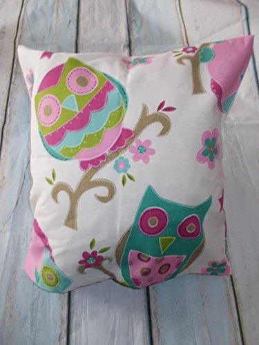 Kissenhülle 40x40cm Eulen handmade Baumwolle Kinderzimmer Dekokissen