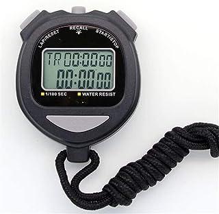JINHAN ساعة توقيت ساعة إلكترونية للماء مع الخلفية ساعة توقيت مزدوج متعددة الوظائف 60 قنوات الذاكرة ساعة توقيت للمدرب لعبة ...