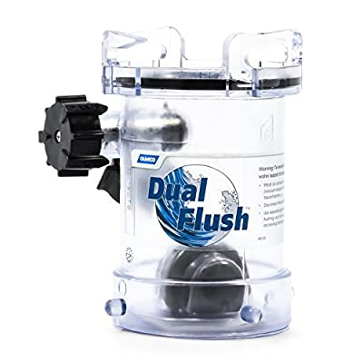 Camco RV Dual Flush RV Holding Tank Rinser - Cleans and Removes Clogs From Sewer Lines with Two Way Jet Cleaning Action, Helps Reduce Odors in Holding Tanks and Sewer Hoses (39072)