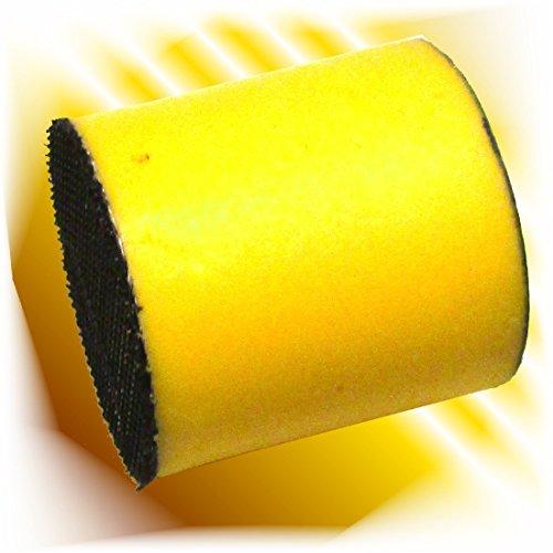 Haitecs Schleifblütenhalter Schleifklotz Schleifblock für Klett und Klebe Schleifblüten 30 mm