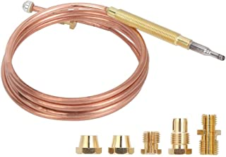 Jeffergarden Gas Stove Universal Thermocouple Fireplace Replacement Kit Adaptors BBQ Grill Accessories