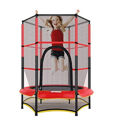 Trampoline Outdoor Trampoline'bouncer S Kinderen'indoor Kinderen Trampoline S Met Beschermende Net, Lager Ongeveer 50kg (Color : Red, Size : 140 * 160cm)